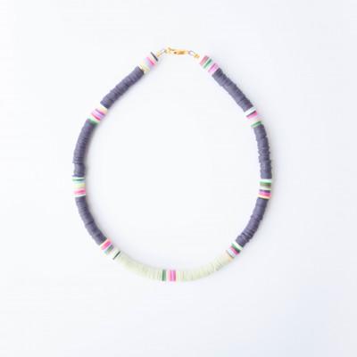 Halskette Charlie   Purple & Pistache
