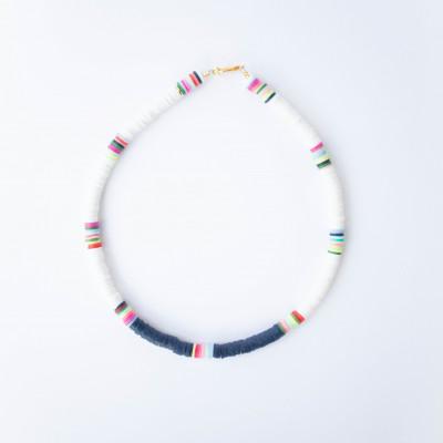 Halskette Charlie   White & Blue Marin