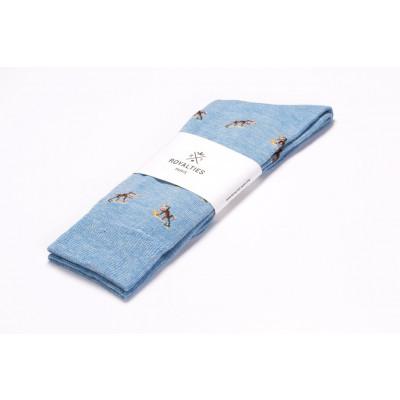 Men Socks Monkey | Azul
