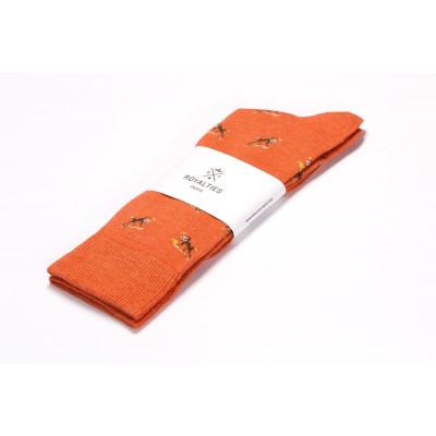 Men Socks Monkey | Orange