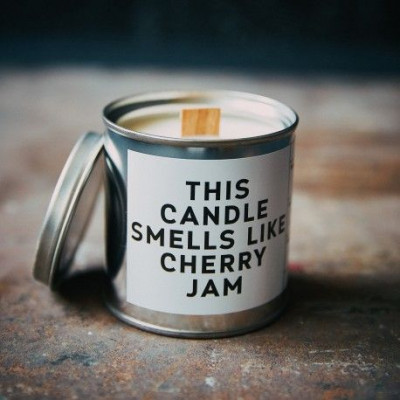 Scented Candle Can   Cherry Jam