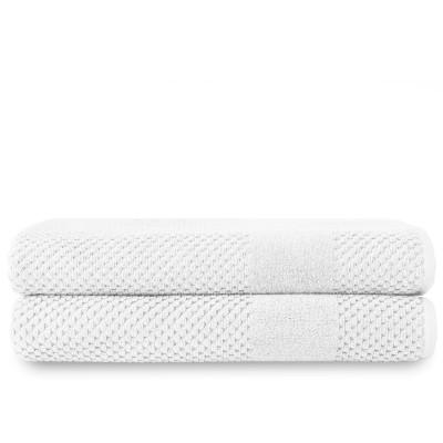 Badelaken Chortex-Waben-Set mit 2 Stück   Weiß