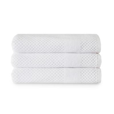 Badetücher Chortex-Waben-Set mit 3 Stück   Weiß