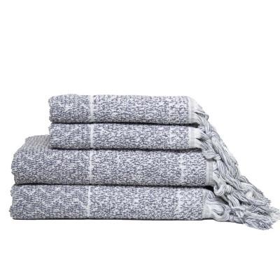 Handtuch-Set IVY Hitit   Grau/Weiß