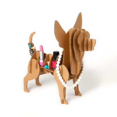 Chihuaha-Hund aus Pappe