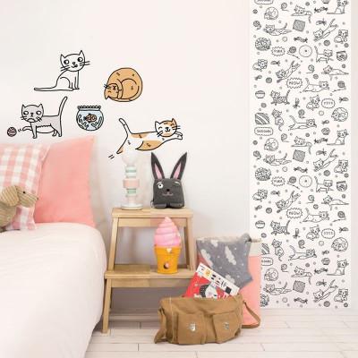 Eva Mouton Coloureable Wall Paper | Cat L
