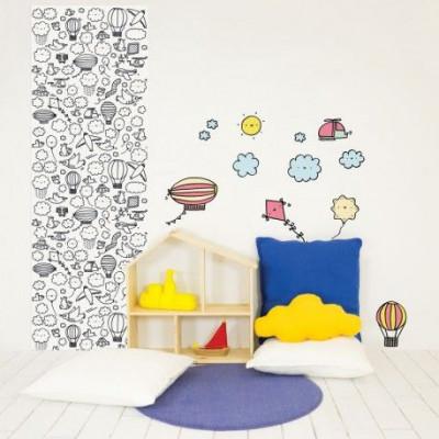 Eva Mouton Coloureable Wall Paper | Sky L