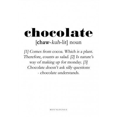 Poster Definition   Chocolate