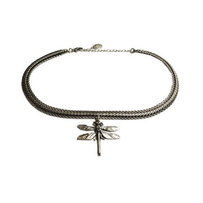 Choker Dragonfly   Silver