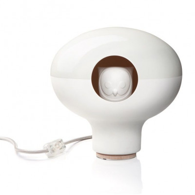C'est Chouette! lamp Glossy/Biscuit White