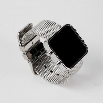Digital Watch | Silver, Chrome