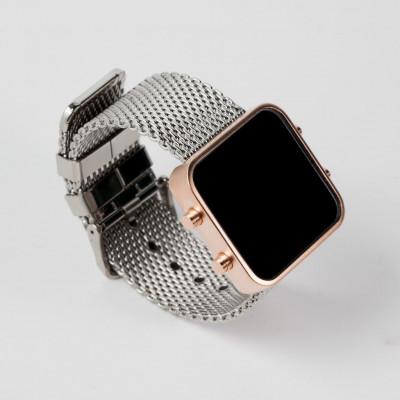 Digital Watch | Gold, Chrome