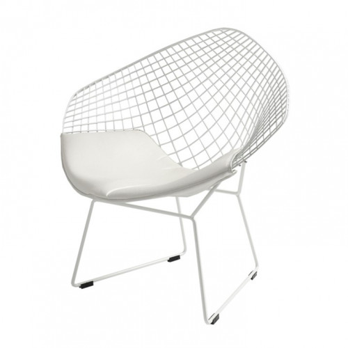 Chair Diament | White + White Cushion