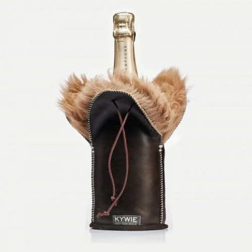 Durable Champagne coolers Of Wool   Brown Silky