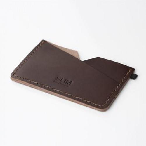 Kartenhalter Slim | Braun Leder