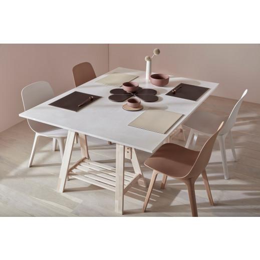 Umkehrbares Rechteckiges Tischset   Vintage Schwarz / Braun