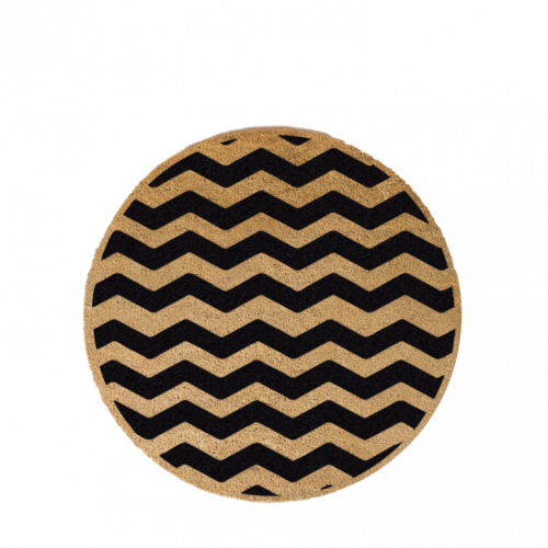 Kreisförmige Fußmatte | Chevron