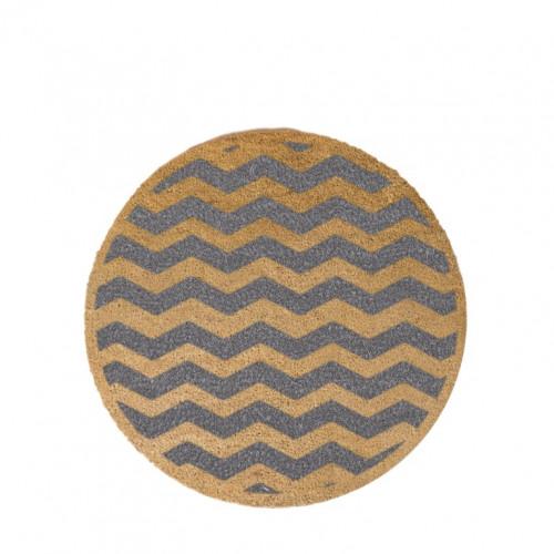 Kreisförmige Fußmatte   Chevron-Grau