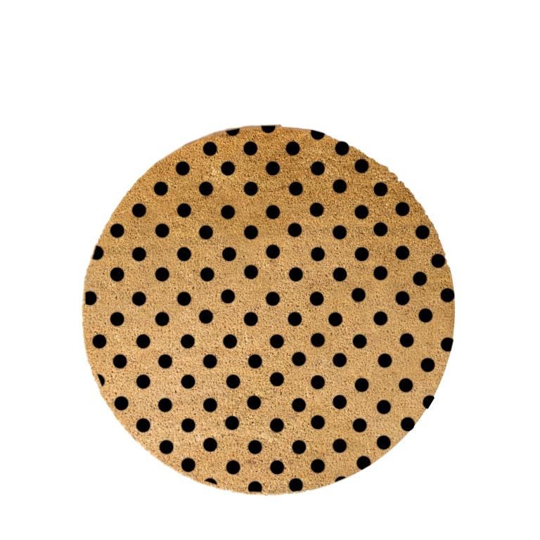 Kreisförmige Fußmatte   Schwarze Punkte