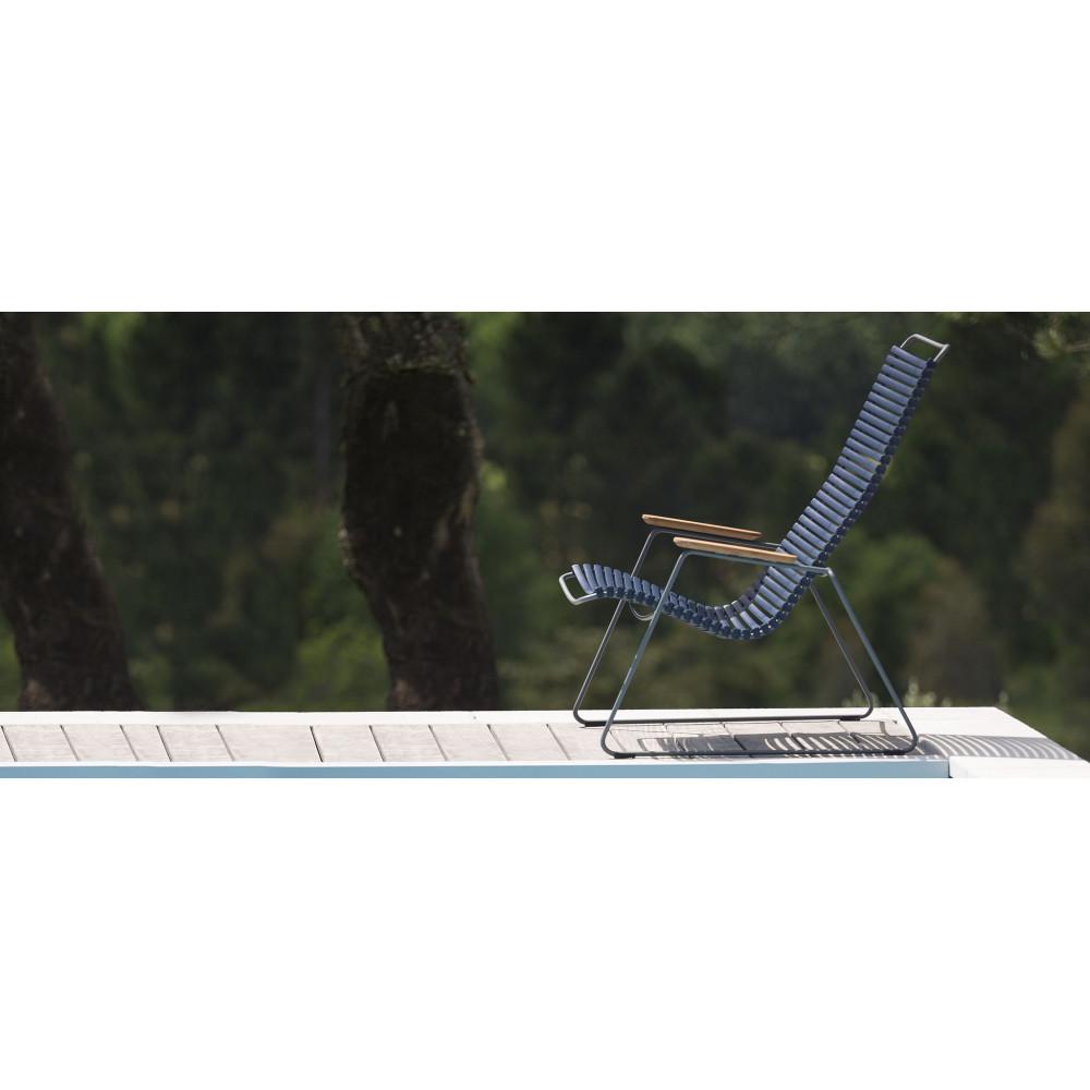 Garten-Lounge-Stuhl Click | Dunkelgrau