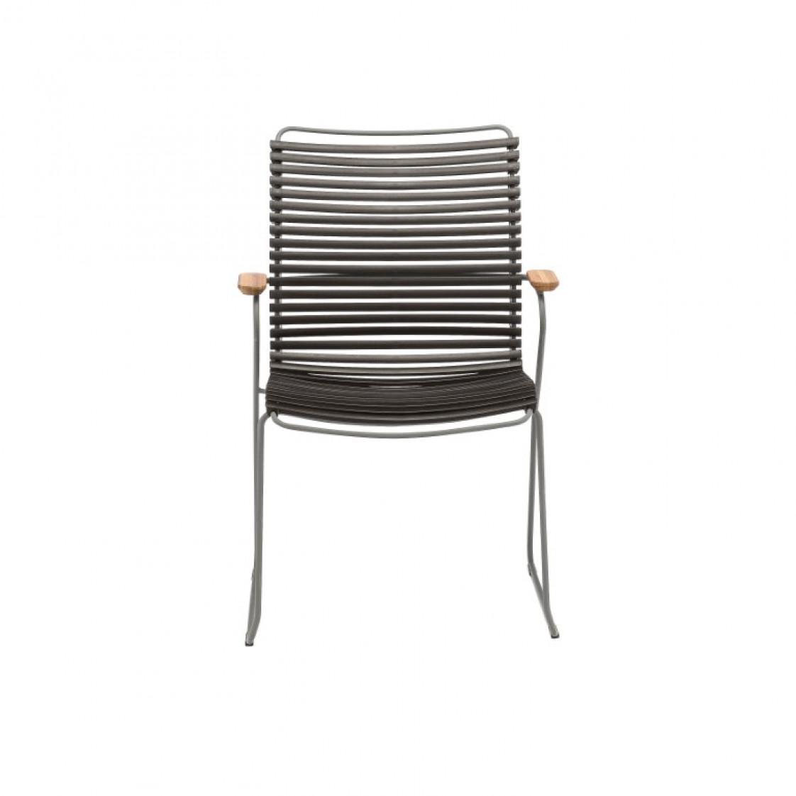 Gartenstuhl mit hoher Rückenlehne Click | Schwarz