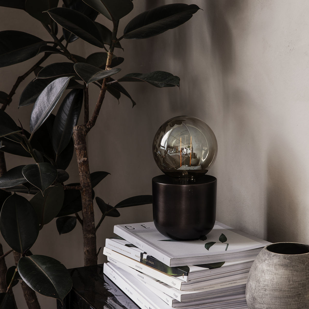 Table Lamp Gleam | Antique Brown