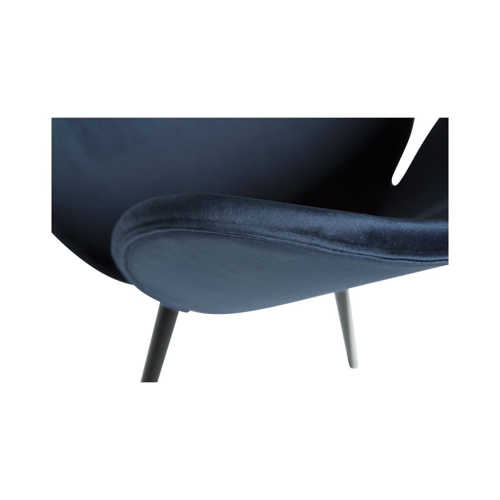 Stuhl Cloud Velvet | Blau