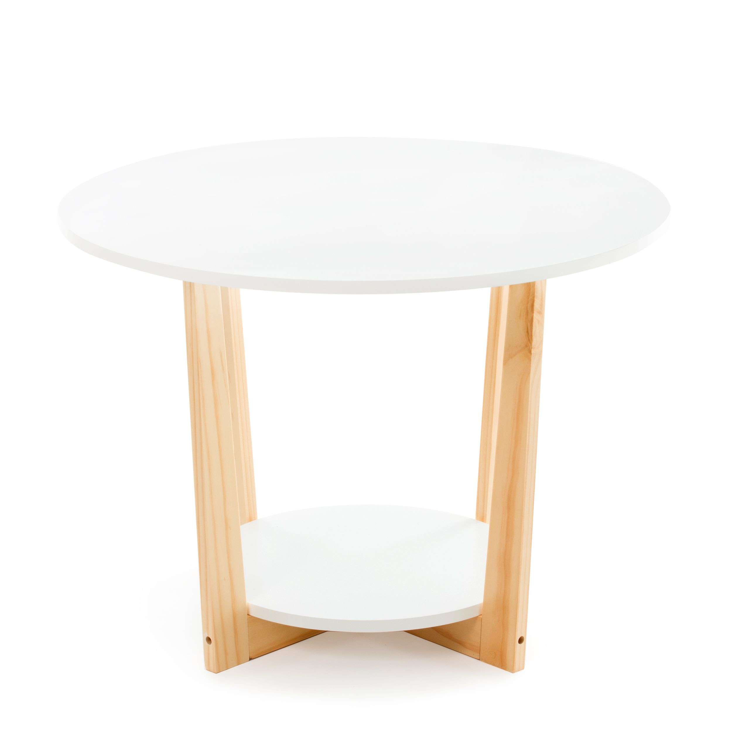 Coffee Table Clear Living   White