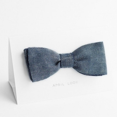 Reversible Bow Tie | Chambray Navy