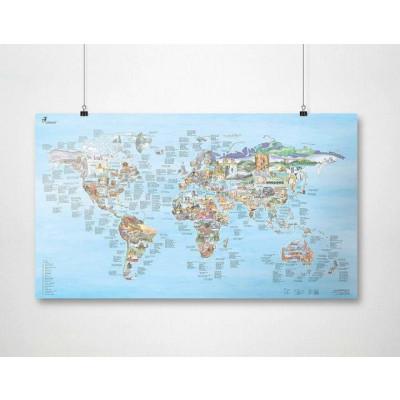 Wiederbeschreibbare Weltkarte   Klettern im Freien