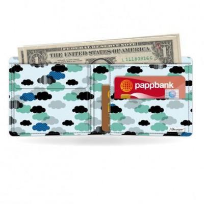 Klassische Brieftasche   Wolkig
