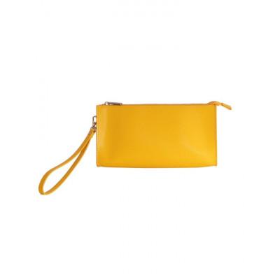 Clutch Bag Gelb Gold