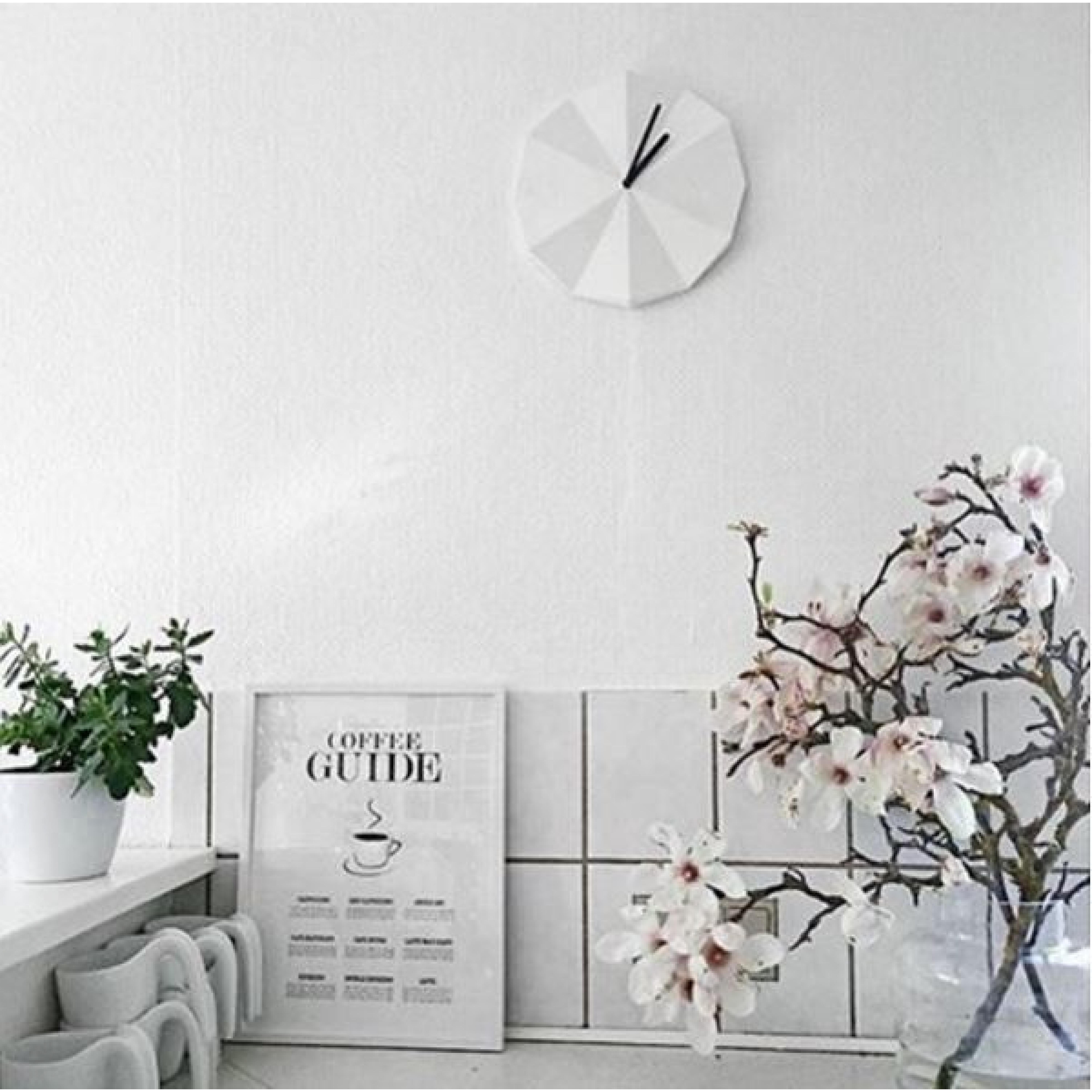 Delta Clock   White