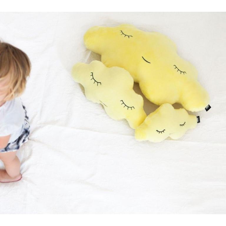 Kussen Soft Wolk | Geel