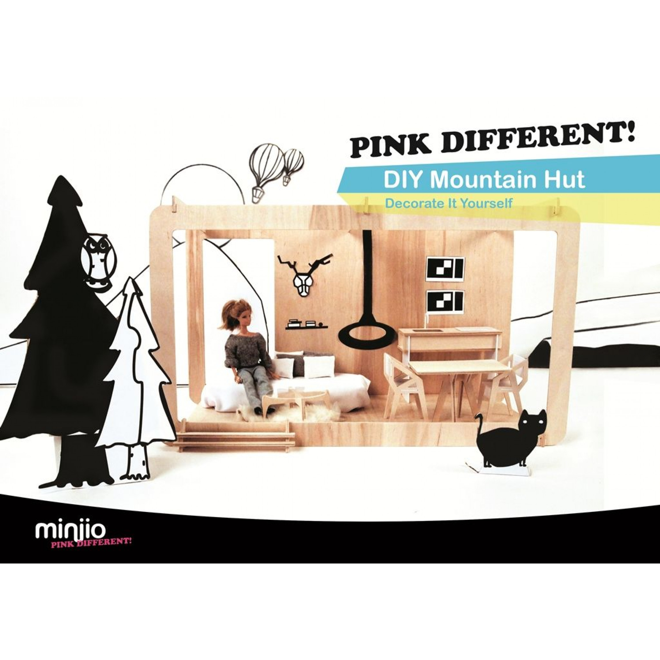 Pink Different Mountain Hut