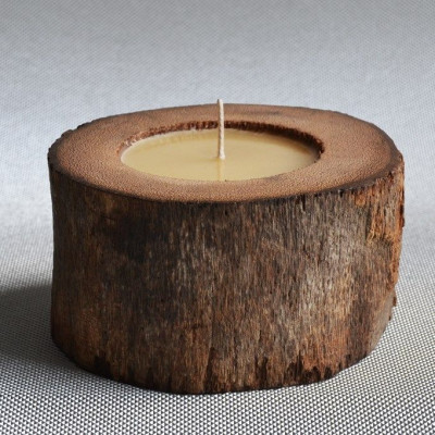 Palm Wood Kerze Natur/Einfach - Honigduft