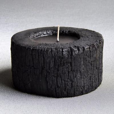 Palm Holz Kerzenständer Schwarz Einfach | Wasser Blumen
