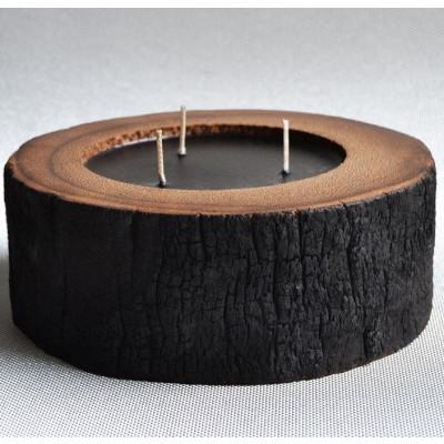 Palm Wood Kerze Natural/3 Docht- Duft von Wasserblumen