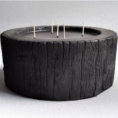 Palm Wood Kerze Schwarz/5 Docht- Wasserblumenduft