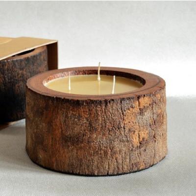 Palm Wood Candle 3 Wicks | Honey
