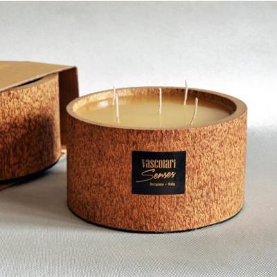 Palm Wood Candle 5 Wicks | Honey