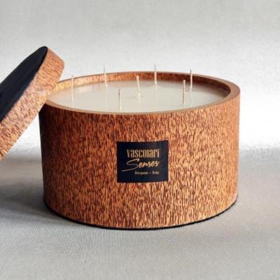 Palm Wood Candle 7 Wicks | Vanilla/Patchouli
