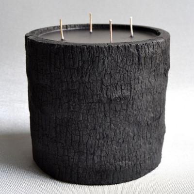Palm Wood Kerze Schwarz/Hoch- Wasserblumenduft