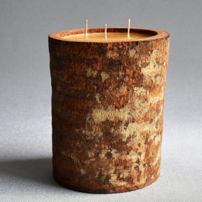 Palm Wood Kerze Natur/Hoch-Honig-Duft