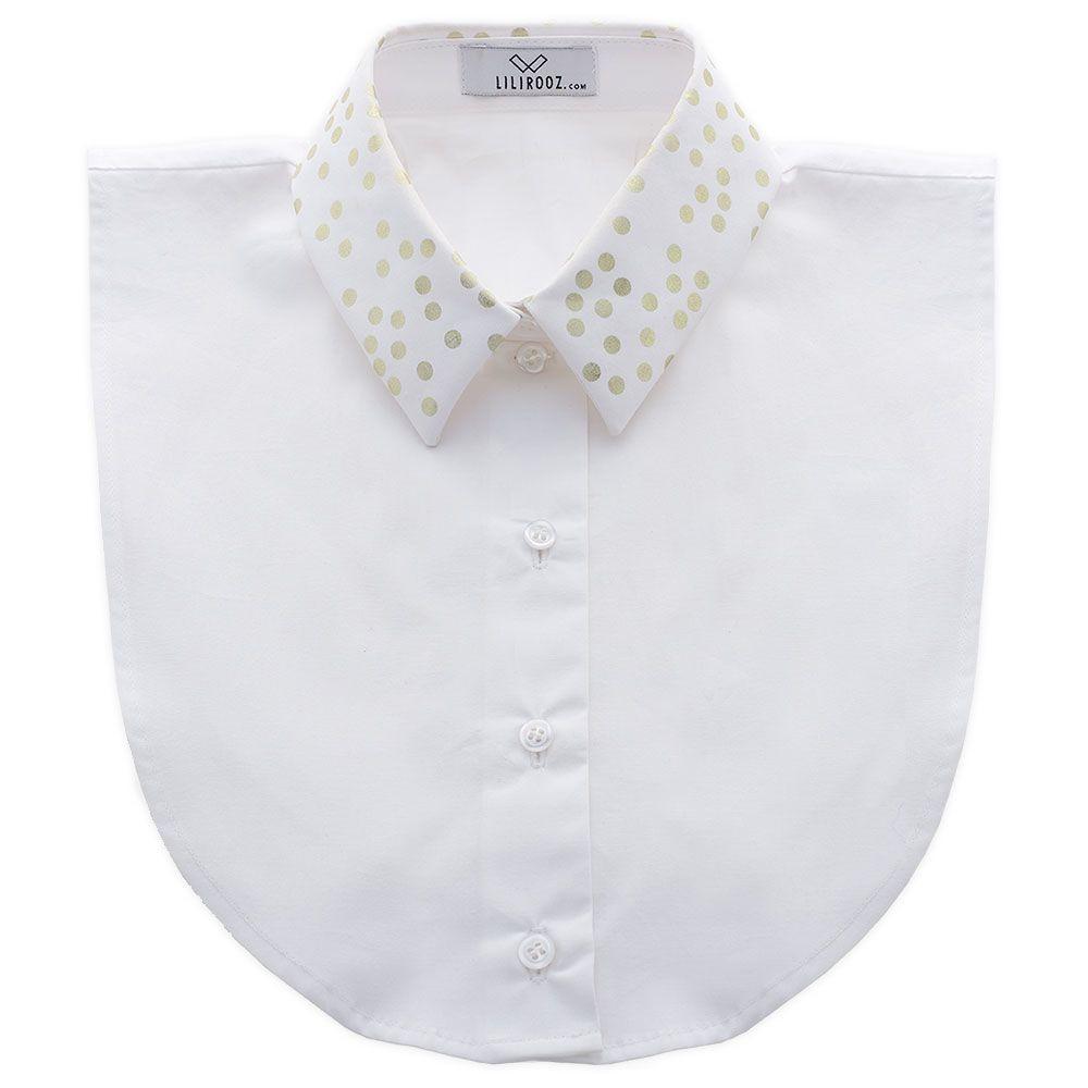 Collar 8 | White Straight Dots