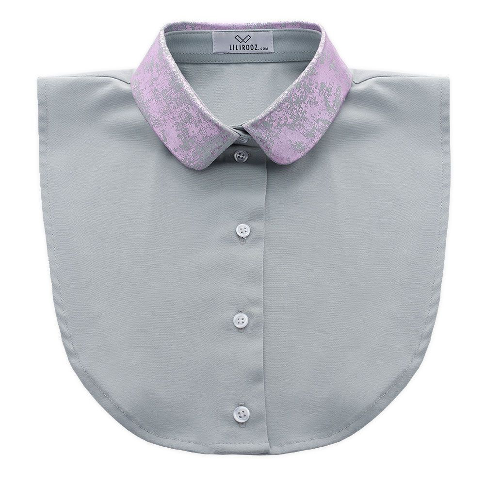 Collar 9   Light Grey - Round - Pink
