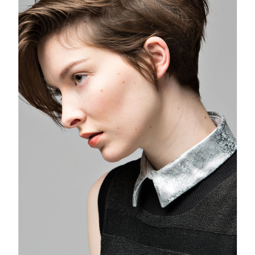 Collar 10   Light Grey - Straight - Silver