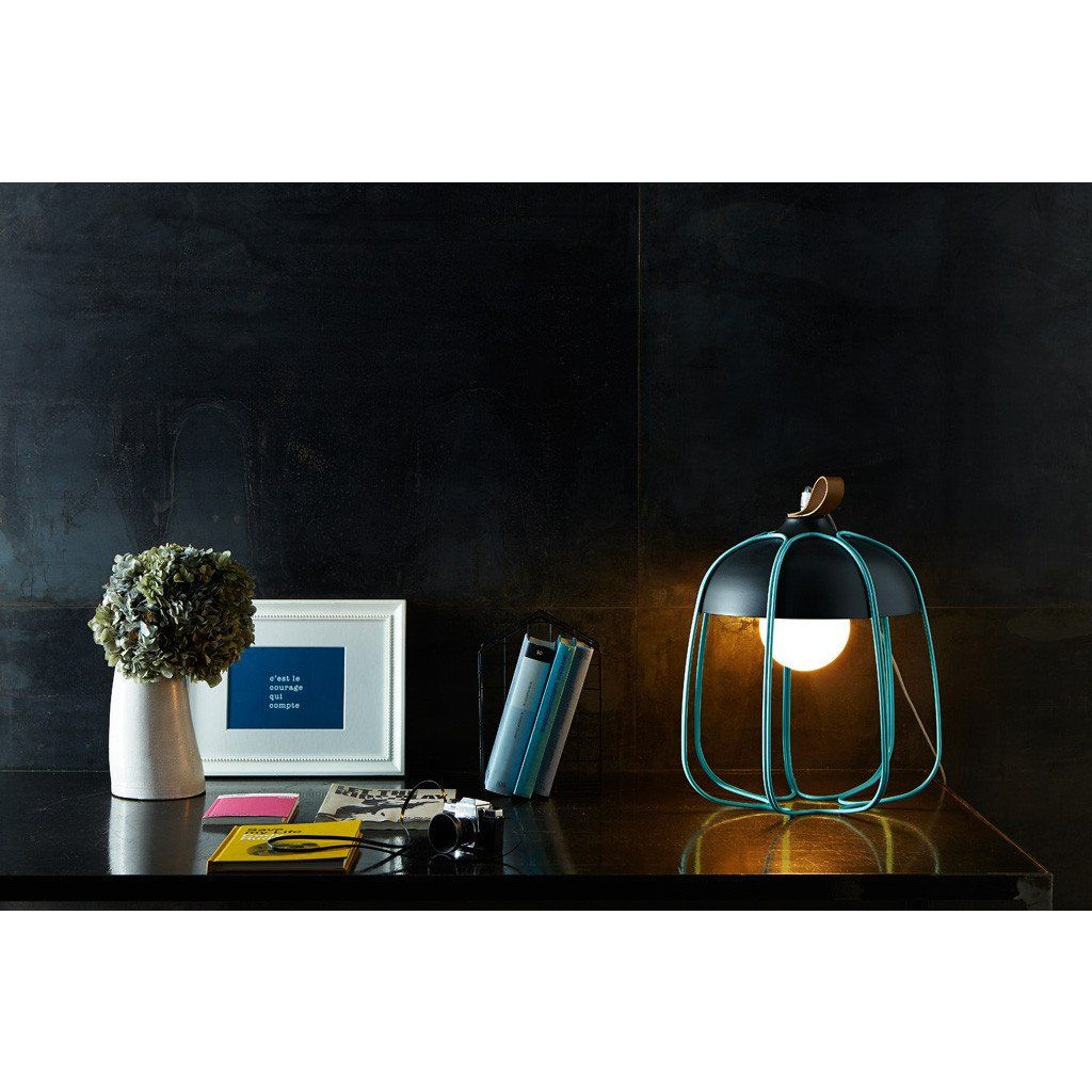 Tull Table Lamp   Copper Coated/White