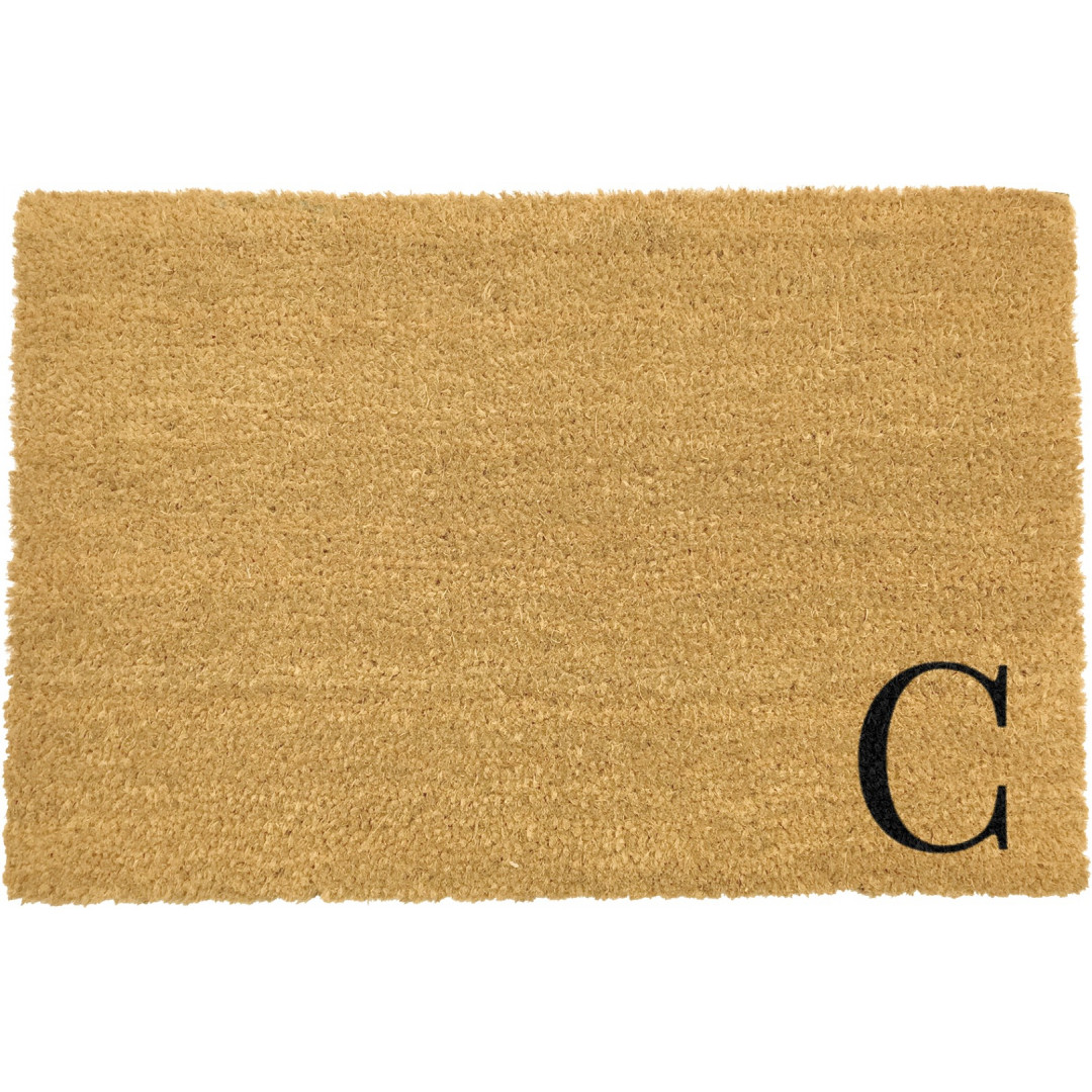Fußmatte Doormat Monogram Corner Straight | C