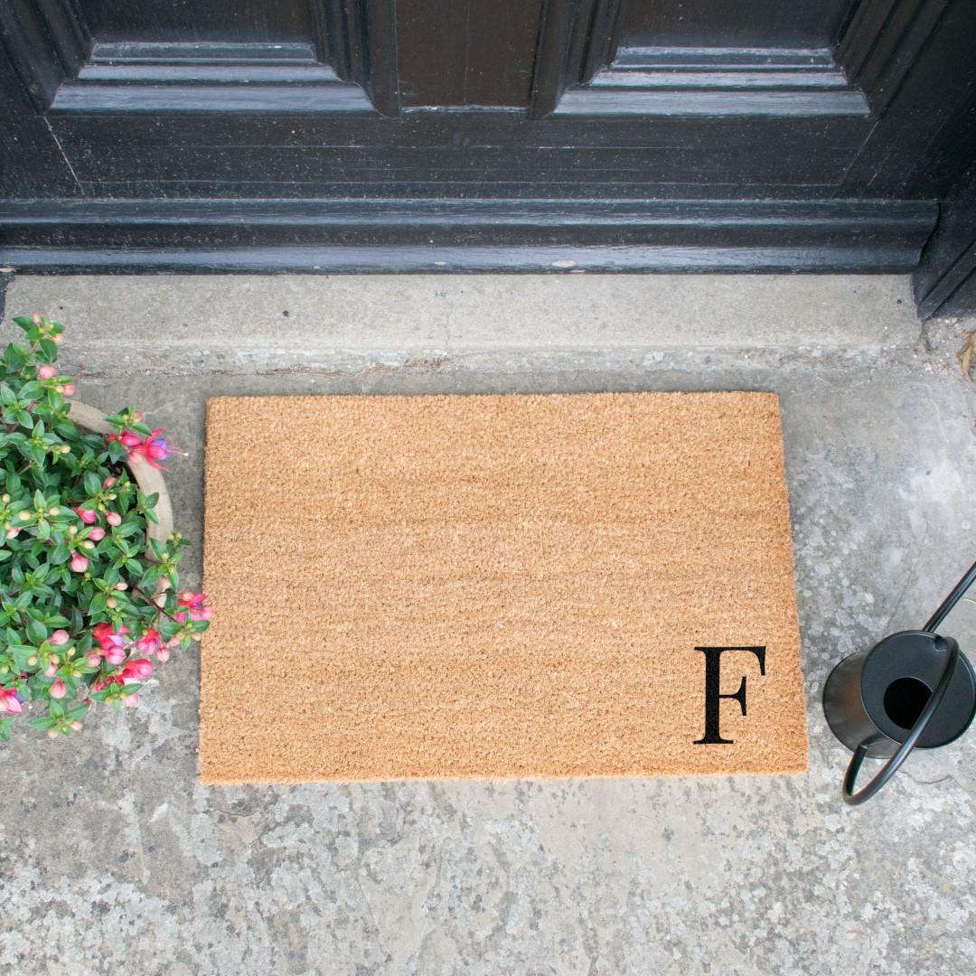 Fußmatte Doormat Monogram Corner Straight   F